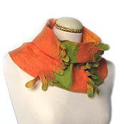 Аксессуары ручной работы. Ярмарка Мастеров - ручная работа валяный шарф-труба КАЛЕНДУЛА. Handmade.