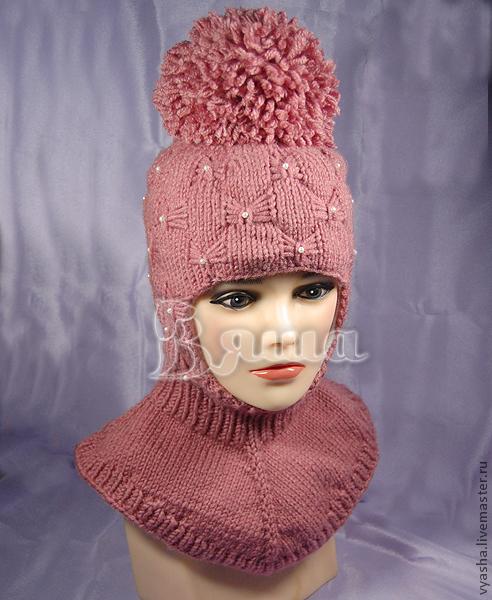 Зимняя детская шапка спицами схема фото 976