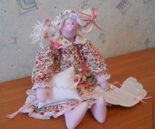 Куклы Тильды ручной работы. Ярмарка Мастеров - ручная работа. Купить И ангелы устают. Сплюшка Розочка. Тильда. Handmade.