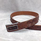 Аксессуары handmade. Livemaster - original item Belts made of embossed crocodile skin, custom-made!. Handmade.