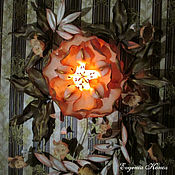 Для дома и интерьера handmade. Livemaster - original item Vintage luminous painting 3D wall Sconce wall Lamp. Handmade.