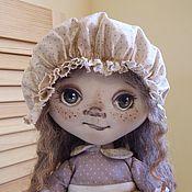 Куклы и игрушки ручной работы. Ярмарка Мастеров - ручная работа Кукла текстильная интерьерная коллекционная горошек сиреневый. Handmade.