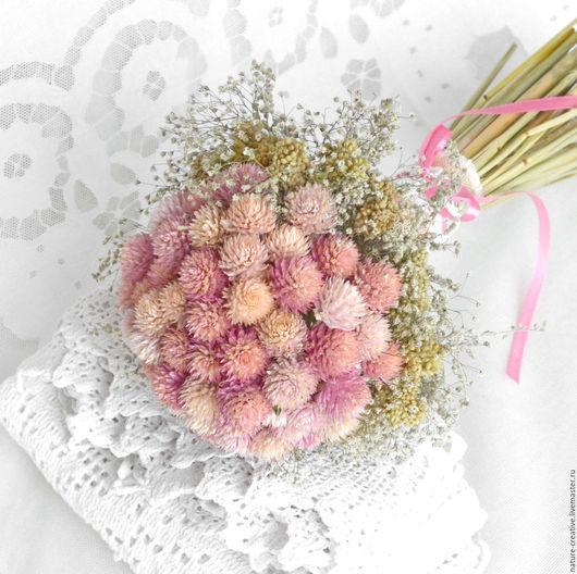 Букеты ручной работы. Ярмарка Мастеров - ручная работа. Купить «Розовый блюз» букет из сухоцветов. Handmade. В эко стиле