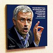 Картины и панно handmade. Livemaster - original item Painting Pop Art Jose Mourinho. Handmade.