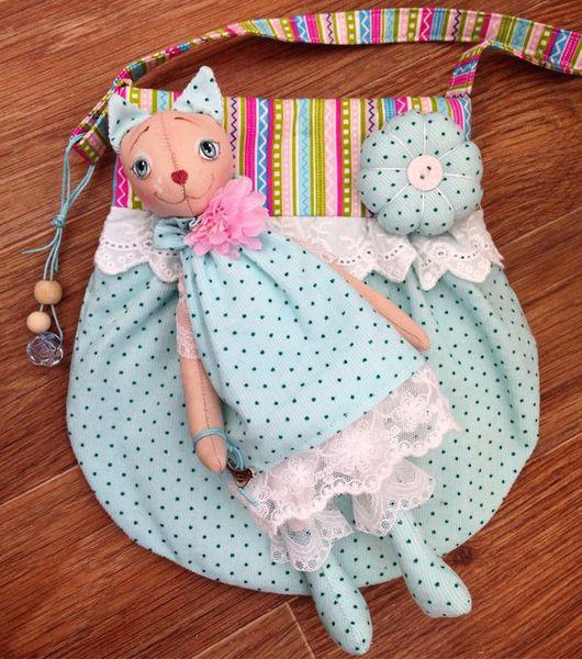 Игрушки животные, ручной работы. Ярмарка Мастеров - ручная работа. Купить Кошечка и сумочка набор в подарок для девочки. Handmade. Подарок
