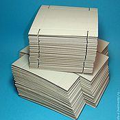 Материалы для творчества ручной работы. Ярмарка Мастеров - ручная работа Коробочка ЗАГОТОВКА (цена за упаковку 50 штук) цвет белый. Handmade.