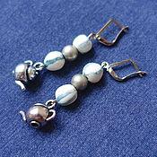 Украшения handmade. Livemaster - original item Alice in Wonderland teapot earrings. Handmade.