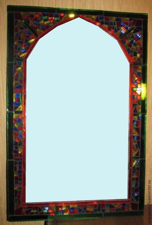 """Зеркала ручной работы. Ярмарка Мастеров - ручная работа. Купить Зеркало настенное мозаика """"Калейдоскоп"""". Handmade. Разноцветный, зеркало настенное"""
