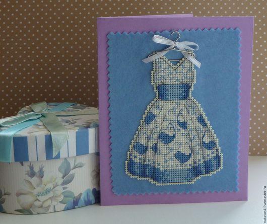 открытка Dress Blue