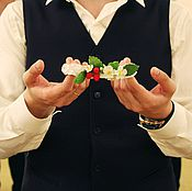 Свадебный салон ручной работы. Ярмарка Мастеров - ручная работа Подвязка невесты Малинка. Handmade.