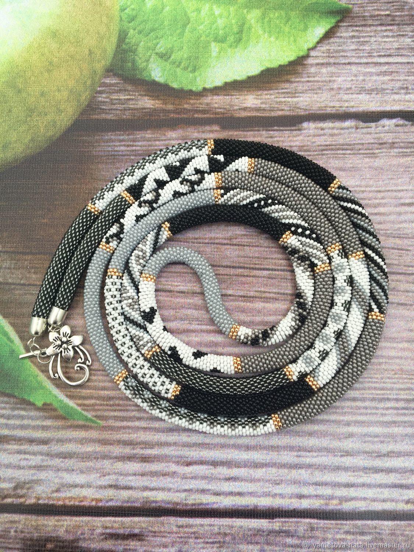 Lariat bead 'smoke gray', repeat, Lariats, Abakan,  Фото №1