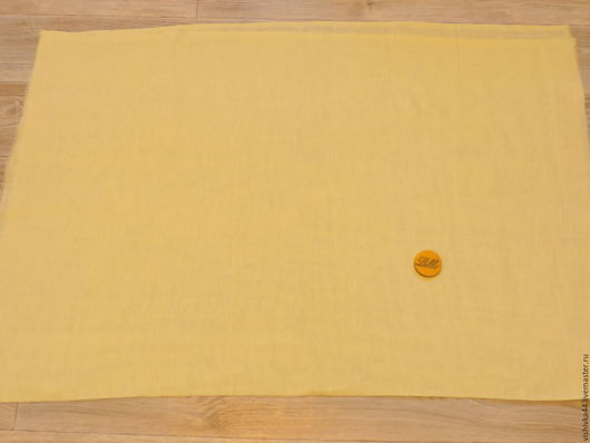 Шитье ручной работы. Ярмарка Мастеров - ручная работа. Купить ткань лен сетка желтая. Handmade. Ткань лен