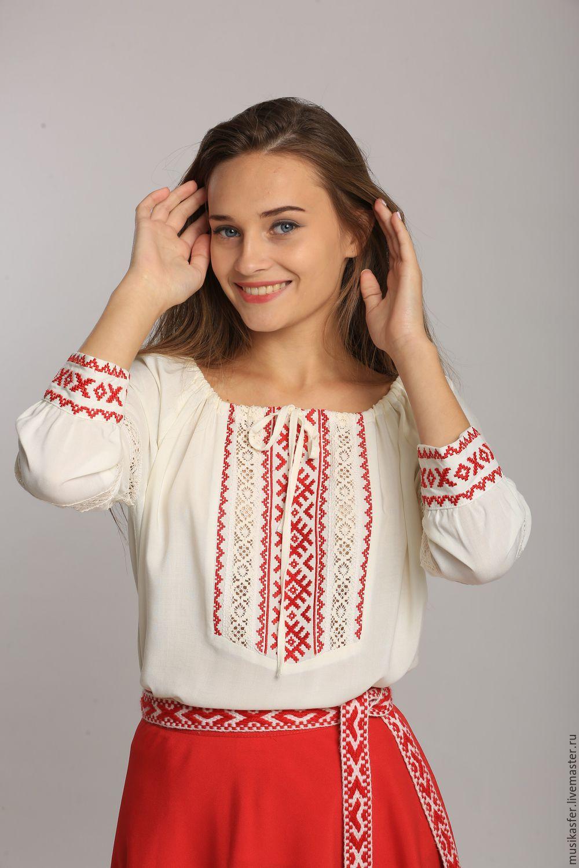Русская вышивка на блузках