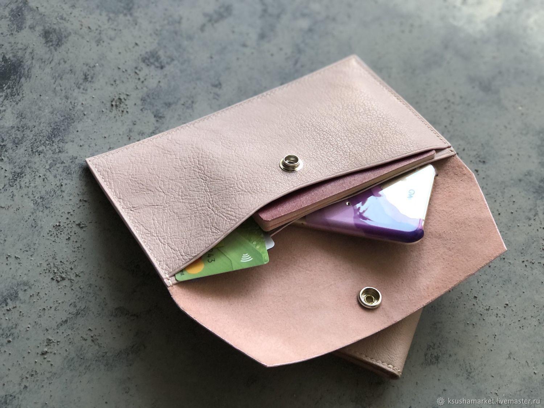 Небольшая сумочка ( клатч) для телефона, купюр и карт Нюд, Клатчи, Рязань,  Фото №1
