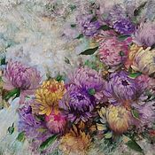 Картины и панно handmade. Livemaster - original item Delicate chrysanthemum. Handmade.