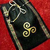 Фен-шуй и эзотерика handmade. Livemaster - original item BAGS for RUNES of linen with painting or embroidery. Handmade.