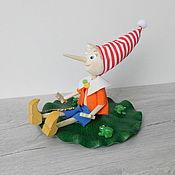 handmade. Livemaster - original item Author`s Pinocchio doll. Handmade.