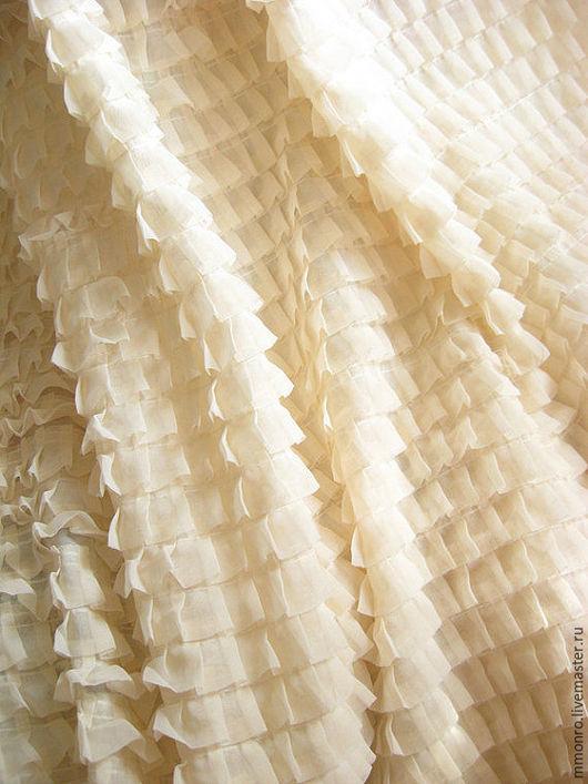 Шитье ручной работы. Ярмарка Мастеров - ручная работа. Купить Элитная свадебная ткань рюшами для платья, юбки. Габриэль. Handmade.