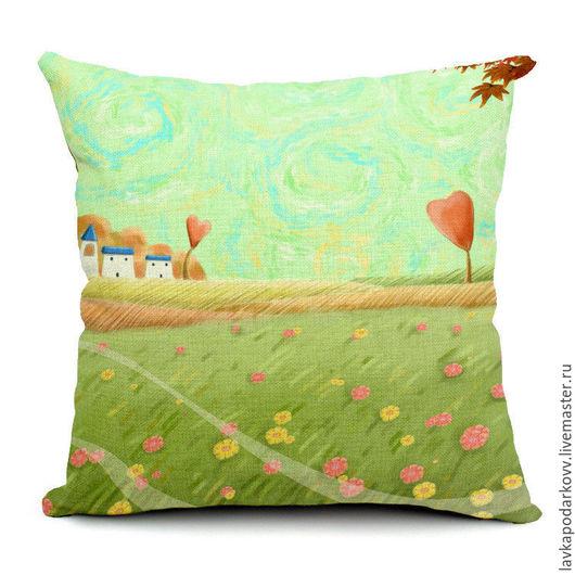 Подушка серии `Сельские пейзажи`, поле