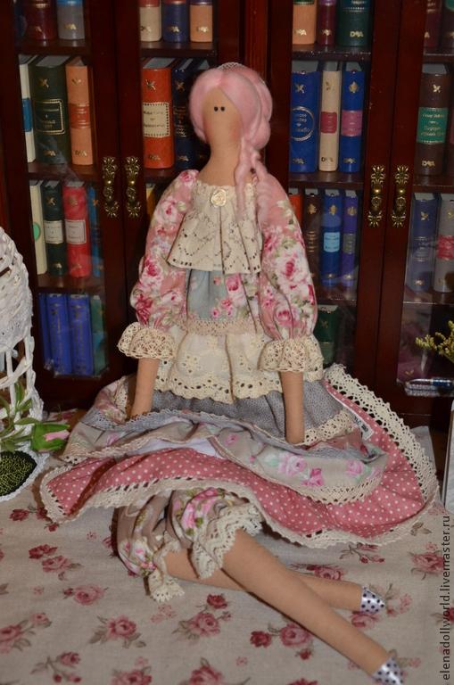 Куклы Тильды ручной работы. Ярмарка Мастеров - ручная работа. Купить Тильда,,Винтаж,,. Handmade. Бледно-розовый, бохо-стиль
