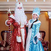 Одежда ручной работы. Ярмарка Мастеров - ручная работа Дед Мороз И Снегурочка. Handmade.