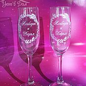 Свадебный салон handmade. Livemaster - original item Glasses with engraving