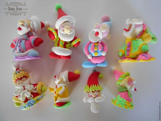 """Сказочные персонажи ручной работы. Ярмарка Мастеров - ручная работа. Купить """"Весельчаки"""" игрушки полимерная глина. Handmade. Дед мороз"""