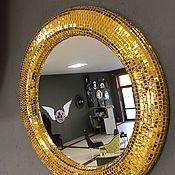 Для дома и интерьера handmade. Livemaster - original item Mirror in mosaic frame, gold. Handmade.