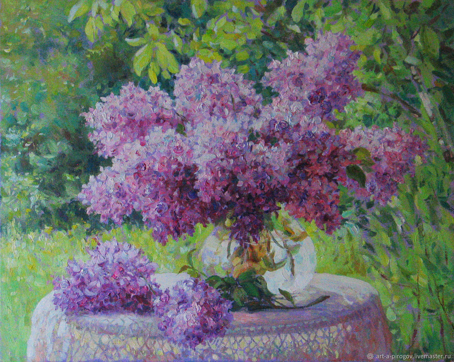 The picture with the lilacs. Oil on canvas. 40h50 cm, Pictures, Petushki,  Фото №1
