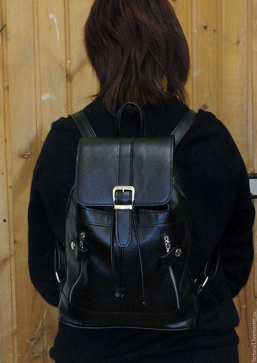 Рюкзаки ручной работы. Ярмарка Мастеров - ручная работа. Купить Рюкзак кожаный городской 1. Handmade. Рюкзак, рюкзак городской