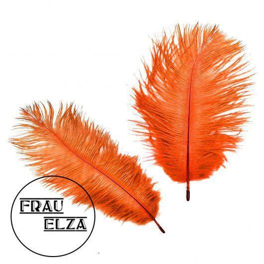 Другие виды рукоделия ручной работы. Ярмарка Мастеров - ручная работа. Купить Маленькие перья страуса 15-17 см Оранж. Handmade.