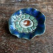 """Украшения ручной работы. Ярмарка Мастеров - ручная работа """"Ботаникус blue"""", брошь, керамика ручной работы. Handmade."""