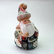 Подарки к праздникам handmade. Livemaster - original item Bright Santa Claus with a bird. Handmade.