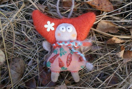 Человечки ручной работы. Ярмарка Мастеров - ручная работа. Купить Авторская куколка фея - мушка Морковная. Handmade. Рыжий