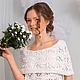 Платья ручной работы. Ярмарка Мастеров - ручная работа. Купить Ажурное платье декольте. Handmade. Белый, платье вязаное, акрил