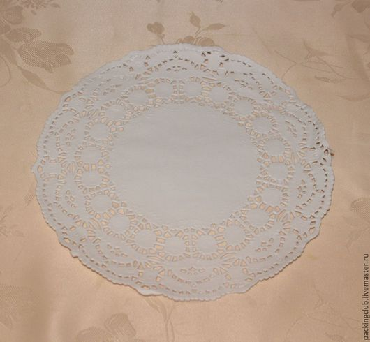 Упаковка ручной работы. Ярмарка Мастеров - ручная работа. Купить Салфетки бумажные кружевные  диаметр 16 см. Handmade. Белый
