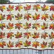 Для дома и интерьера ручной работы. Ярмарка Мастеров - ручная работа Лоскутное покрывало Fallen leaves variations. Handmade.