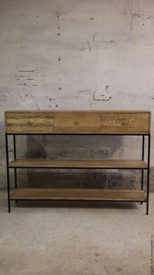 Мебель ручной работы. Ярмарка Мастеров - ручная работа. Купить Консоль с ящиками. Handmade. Коричневый, консоль