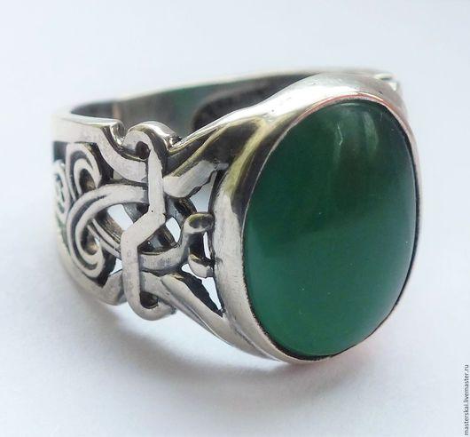 """Кольца ручной работы. Ярмарка Мастеров - ручная работа. Купить Кольцо """"Эрнеста"""" - агат, серебро 925. Handmade. Тёмно-зелёный"""