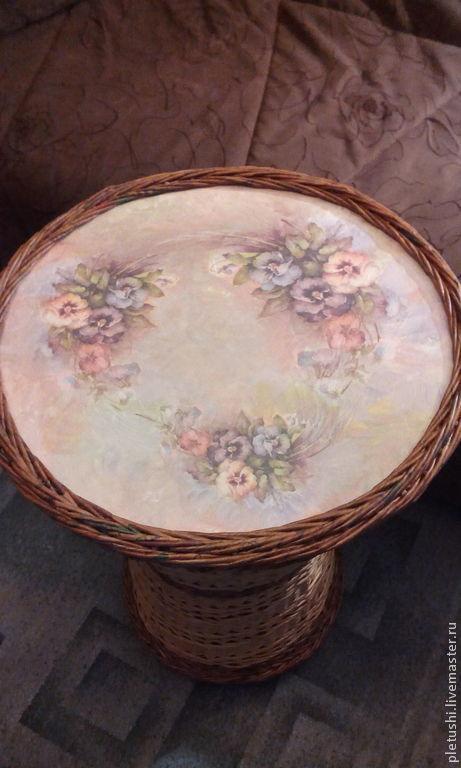 Мебель ручной работы. Ярмарка Мастеров - ручная работа. Купить Плетёный стол. Handmade. Коричневый, Газетные трубочки, рисовая бумага