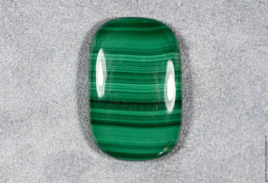 """Для украшений ручной работы. Ярмарка Мастеров - ручная работа. Купить Малахит """"Полосы"""", кабошон подушка. Handmade. Зеленый, для украшений"""