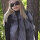 Order Vest fur black brown (silver) foxes. Solid. Zimma. Livemaster. . Vests Фото №3