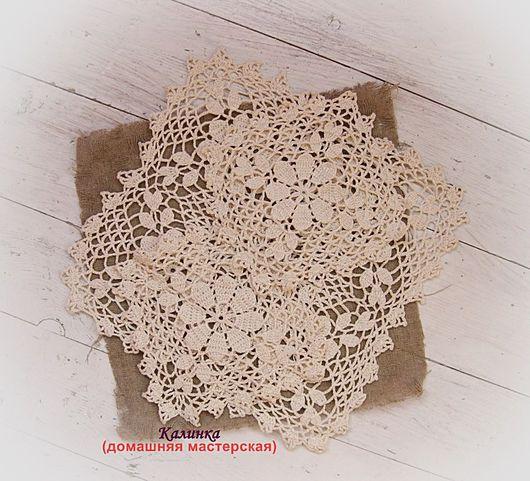 Текстиль, ковры ручной работы. Ярмарка Мастеров - ручная работа. Купить Салфетки ажурные вязаные (набор из трёх штук №9,10,11). Handmade.
