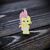 Украшения handmade. Livemaster - original item Wooden icon little Pony. Handmade.