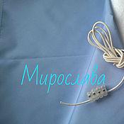 Ткани ручной работы. Ярмарка Мастеров - ручная работа Курточная ткань Дьюспо. Голубой,плащевка. Handmade.