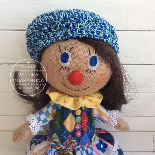 Коллекционные куклы ручной работы. Ярмарка Мастеров - ручная работа. Купить Клоунесса Blue. Handmade. Разноцветный, кукла ручной работы