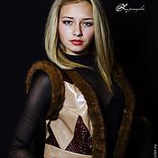 Одежда ручной работы. Ярмарка Мастеров - ручная работа Жилет из кожи и меха Mink. Handmade.