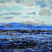 Картины и панно handmade. Livemaster - original item Painting watercolor a Day`s journey From the Rhythms of spring fields. Handmade.