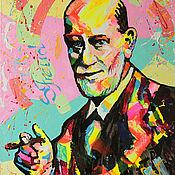 Картины и панно handmade. Livemaster - original item Portrait of Sigmund Freud