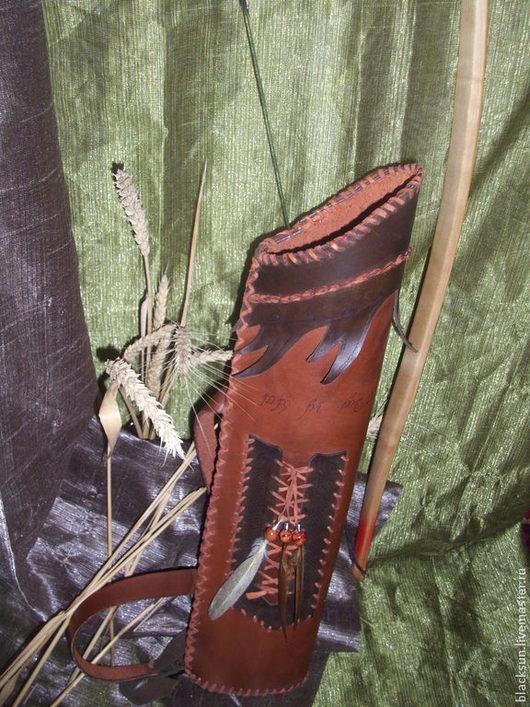 Историческая реконструкция ручной работы. Ярмарка Мастеров - ручная работа. Купить набор лучника: колчан, наручь, перчатка. Handmade.